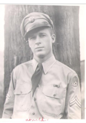World War II photo of Cpl. Thomas Arnold Brown. Does being on the web give him digital immortality?