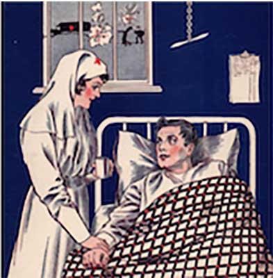 "Blog post image: Vintage greeting ""Get Well"" greeting card"