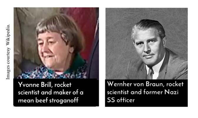 Sexism in obituaries: Yvonne Brill and Wernher von Braun