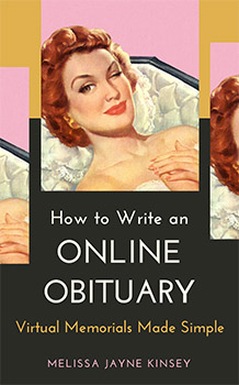 Mockup of book cover: How to Write an Online Obituary